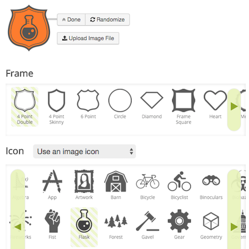 Screenshot build a badge 950076c66d5c86393469833d75af32deb0f63fea19dd0dae8457af878b29acd9